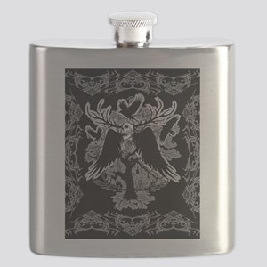 Nightmare Skull and Crows Flask