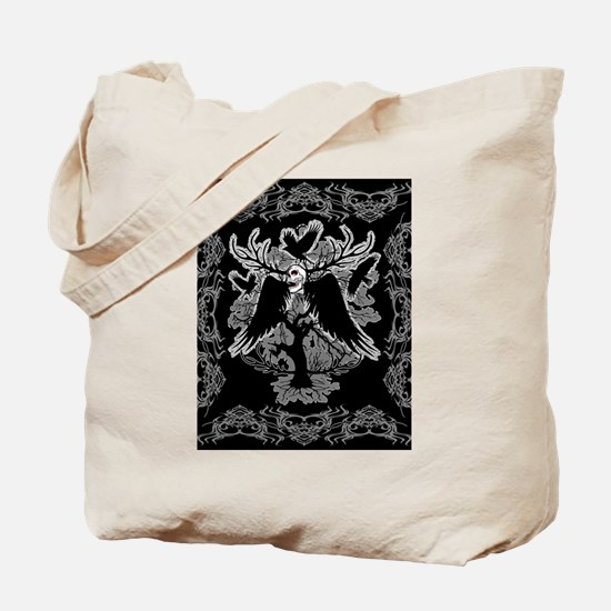 Nightmare Skull and Crows Tote Bag