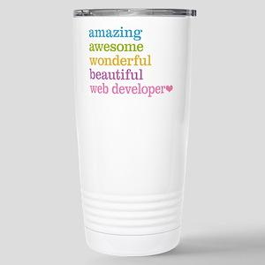 Web Developer Stainless Steel Travel Mug