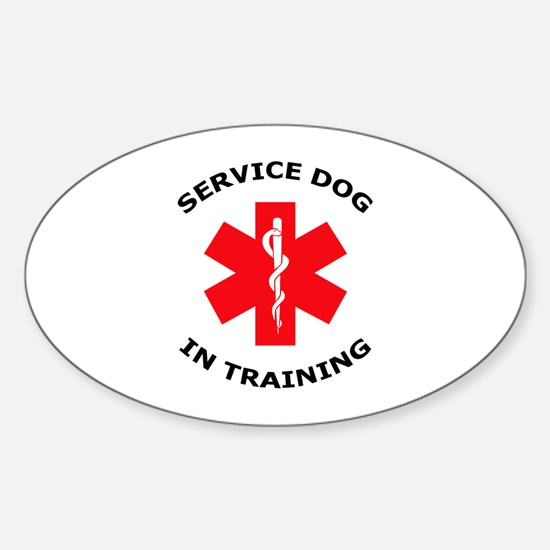 SERVICE DOG IN TRAINING Decal