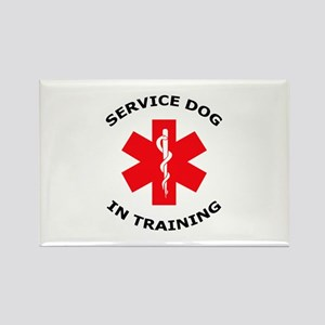 SERVICE DOG IN TRAINING Magnets