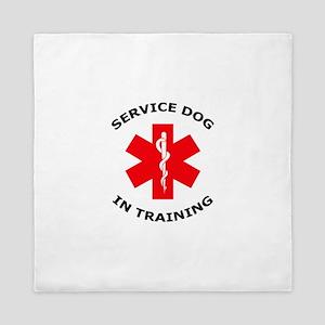 SERVICE DOG IN TRAINING Queen Duvet