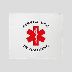 SERVICE DOG IN TRAINING Throw Blanket