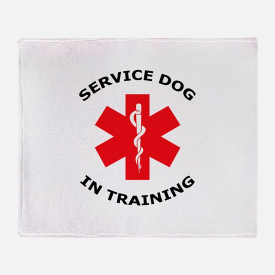 SERVICE DOG IN TRAINING Throw Blanket