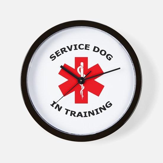 SERVICE DOG IN TRAINING Wall Clock