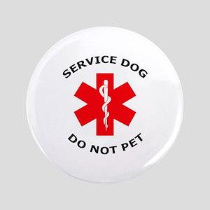 """DO NOT PET 3.5"""" Button"""