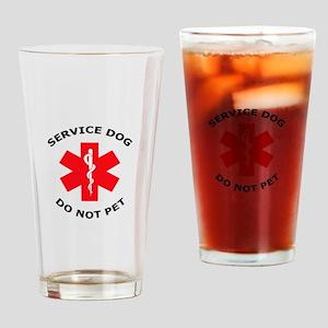 DO NOT PET Drinking Glass