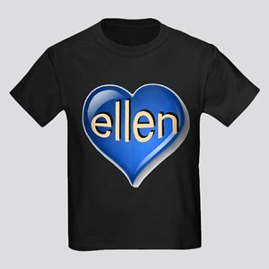 ellen Heart Kids Dark T-Shirt