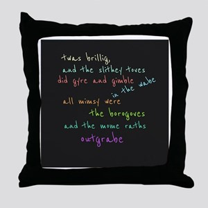 Twas Brillig Throw Pillow