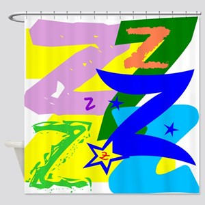 Initial Design (Z) Shower Curtain