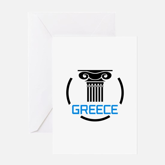 GREECE COLUMNS Greeting Cards