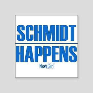 "New Girl Schmidt Square Sticker 3"" x 3"""
