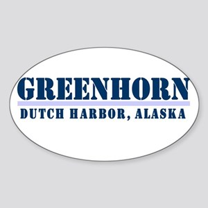 Greenhorn Dutch Harbor Oval Sticker