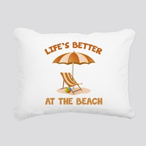 Life's Better At The Beach Rectangular Canvas Pill