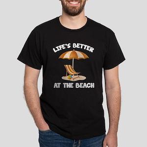 Life's Better At The Beach Dark T-Shirt