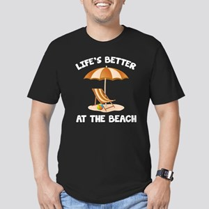Life's Better At The Beach Men's Fitted T-Shirt (d