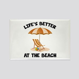 Life's Better At The Beach Rectangle Magnet