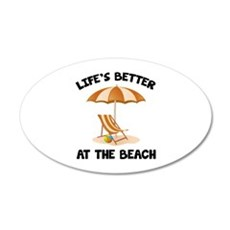 Life's Better At The Beach 22x14 Oval Wall Peel