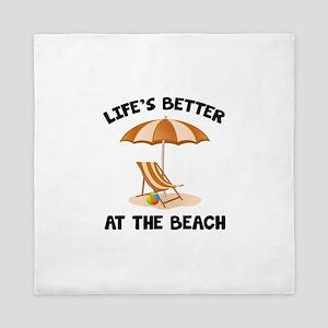 Life's Better At The Beach Queen Duvet