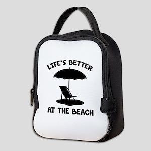 Life's Better At The Beach Neoprene Lunch Bag