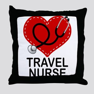 Travel Nurse Throw Pillow