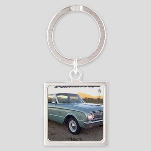 1963 Ford Ranchero Square Keychain