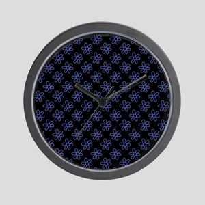Electric Blue Daisies Wall Clock