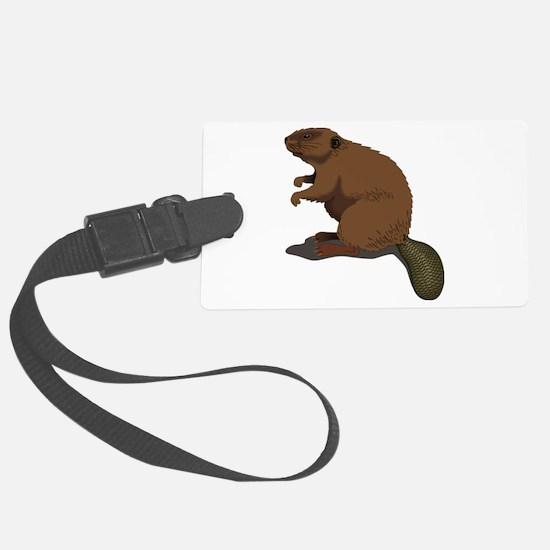 Cute Beaver Sitting Luggage Tag