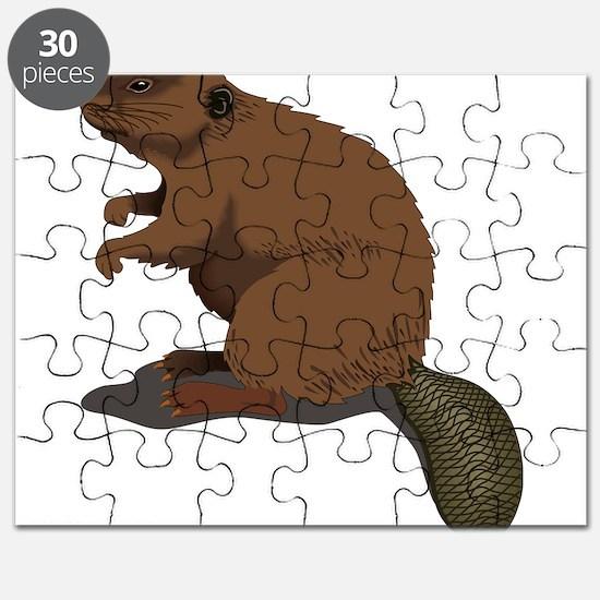 Cute Beaver Sitting Puzzle
