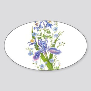 Blue Bouquet Sticker