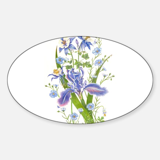 Blue Bouquet Decal