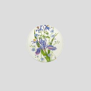 Blue Bouquet Mini Button