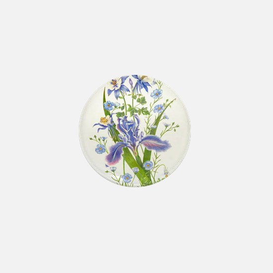 Blue Bouquet Mini Button
