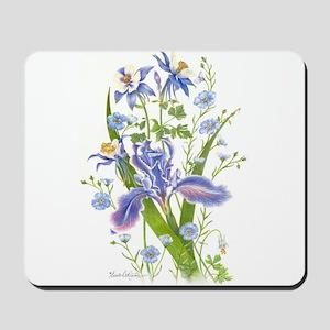 Blue Bouquet Mousepad