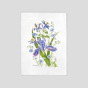 Blue Bouquet 5'x7'area Rug