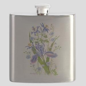 Blue Bouquet Flask