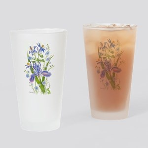 Blue Bouquet Drinking Glass