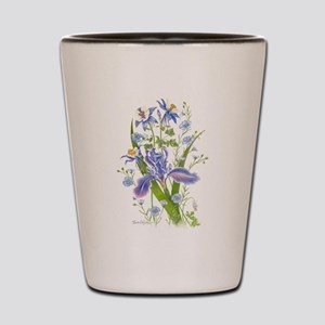 Blue Bouquet Shot Glass