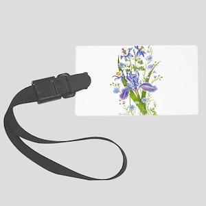 Blue Bouquet Luggage Tag