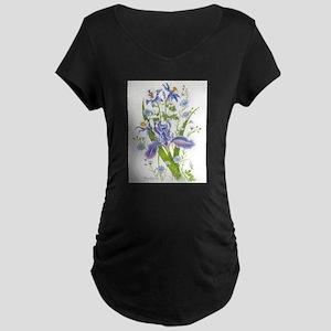 Blue Bouquet Maternity T-Shirt