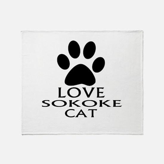 Love Sokoke Cat Designs Throw Blanket