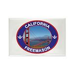 The California Freemason Rectangle Magnet (10 pac