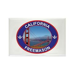 The California Freemason Rectangle Magnet