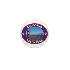 The California Freemason Mini Button