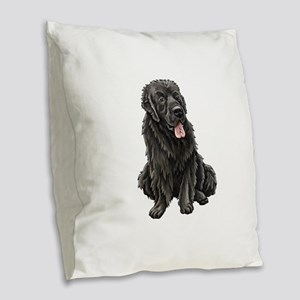 Newfoundland Burlap Throw Pillow