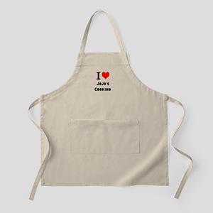 I Heart Love Custom Names Jojos Cooking Apron