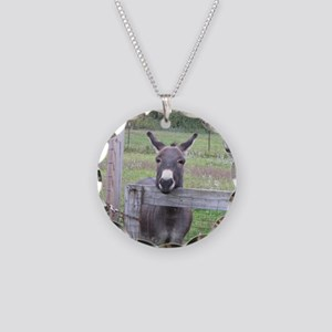 Miniature Donkey II Necklace Circle Charm