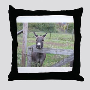 Miniature Donkey II Throw Pillow