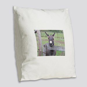 Cosmo at the Gate Burlap Throw Pillow