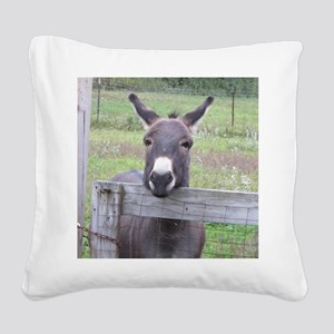 Cosmo at the Gate Square Canvas Pillow